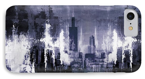 Skyline Chicago City IPhone Case by Gull G
