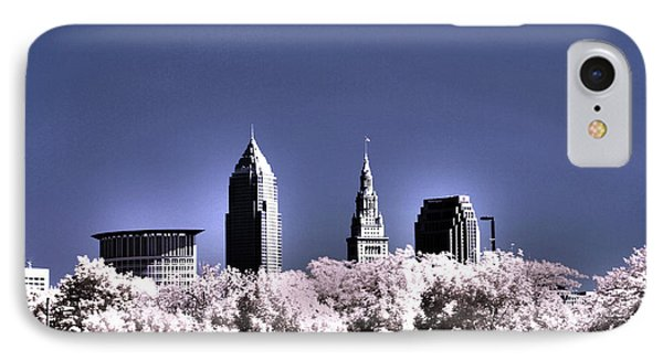 Skyline Cleveland, Ohio Phone Case by Bob LaForce