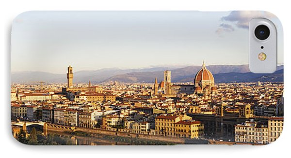 Skyline Of Florence From The Piazza Michelangelo At Dawn Phone Case by Jeremy Woodhouse