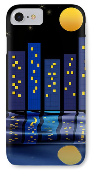 Skyline Reflections Phone Case by Arline Wagner