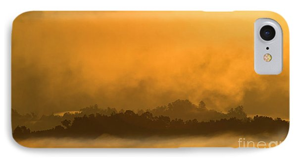 IPhone Case featuring the photograph sland in the Mist - D009994 by Daniel Dempster