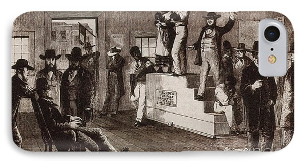 Slave Auction In Virginia Phone Case by Photo Researchers