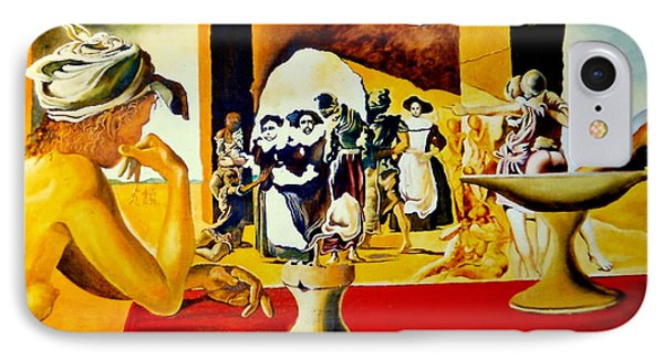 Slave Market With The Invisible Bust Of Voltaire IPhone Case by Henryk Gorecki
