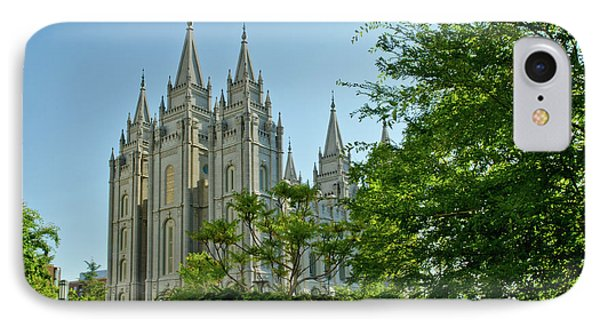 Slc Temple Trees IPhone Case