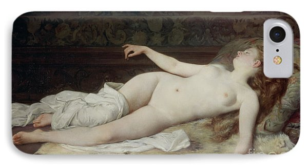 Sleep Phone Case by Louis Joseph Raphael Collin