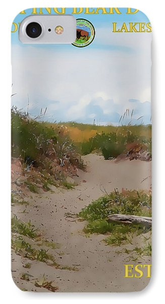 Sleeping Bear Dunes National Lakeshore Poster IPhone Case by Dan Sproul