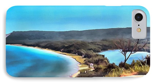 Sleeping Bear Dunes Panorama Painting IPhone Case