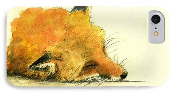 Sleeping Fox IPhone Case by Juan  Bosco