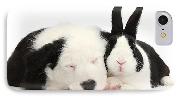 Sleeping In Black And White IPhone Case