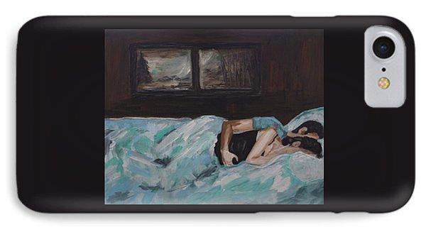 Sleeping In Phone Case by Leslie Allen