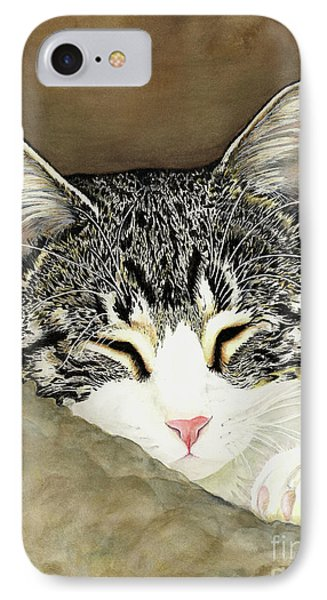 Sleeping Mia IPhone Case by Shari Nees