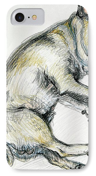 Sleeping Pug One IPhone Case by Joan Thewsey