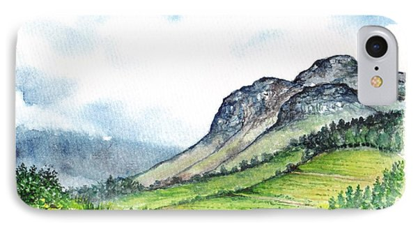 IPhone Case featuring the painting Sleeping Valley by Heidi Kriel