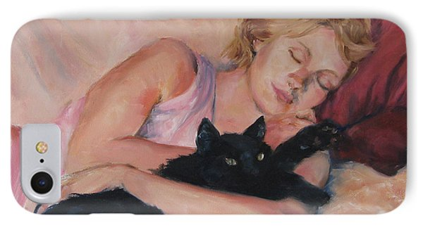 Sleeping With Fur IPhone Case by Connie Schaertl