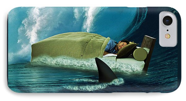 Sleeping With Sharks IPhone Case by Marian Voicu