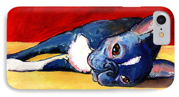 Sleepy Boston Terrier Dog  IPhone Case