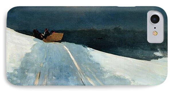 Sleigh Ride IPhone Case by Winslow Homer