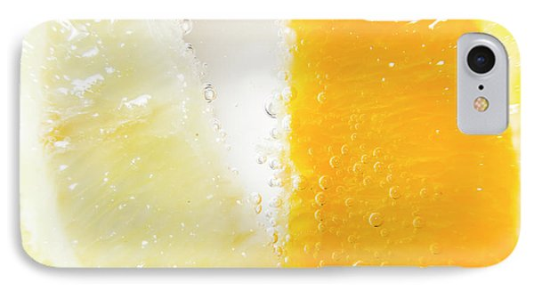 Slice Of Orange And Lemon In Cocktail Glass IPhone Case by Jorgo Photography - Wall Art Gallery