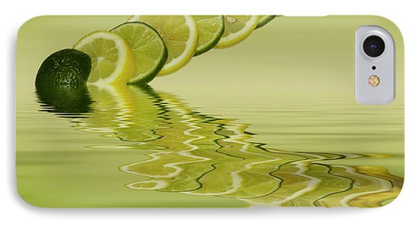 IPhone Case featuring the photograph Slices Lemon Lime Citrus Fruit by David French