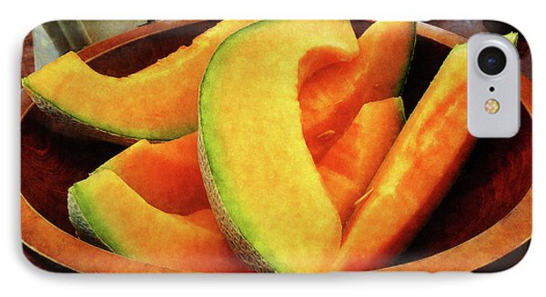 Slices Of Cantaloupe Phone Case by Susan Savad