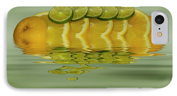IPhone Case featuring the photograph Slices Orange Lime Citrus Fruit by David French