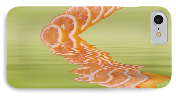 IPhone Case featuring the photograph Slices Pink Grapefruit Citrus Fruit by David French