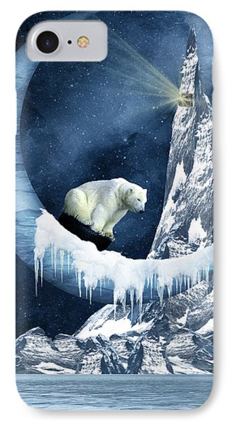 Sliding On The Moon IPhone Case by Mihaela Pater