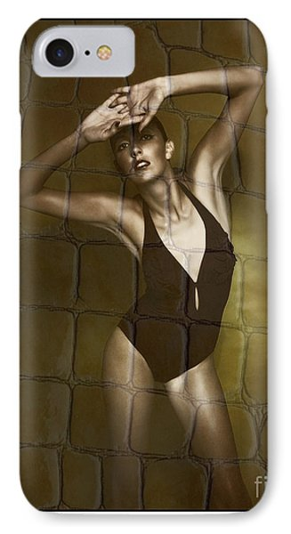 IPhone Case featuring the photograph Slim Girl In Bathing Suit by Michael Edwards