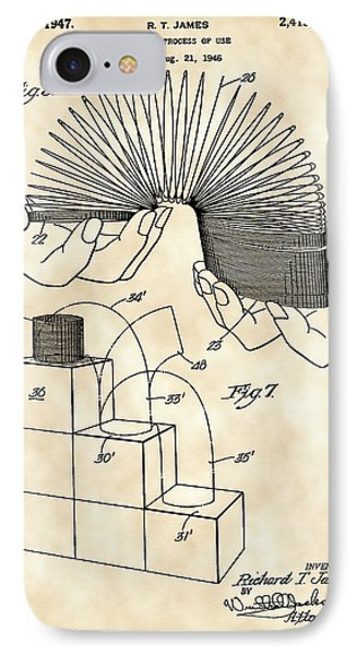 Slinky Patent 1946 - Vintage IPhone Case by Stephen Younts