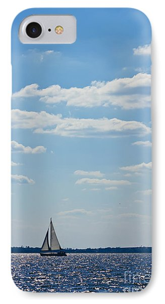 Sloop Sailing On The Harbor IPhone Case by Dustin K Ryan