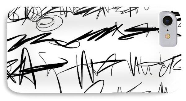 Sloppy Writing IPhone Case by Go Van Kampen