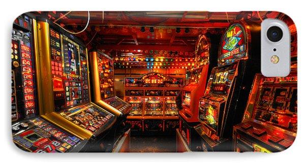 Slot Machines IPhone Case by Yhun Suarez