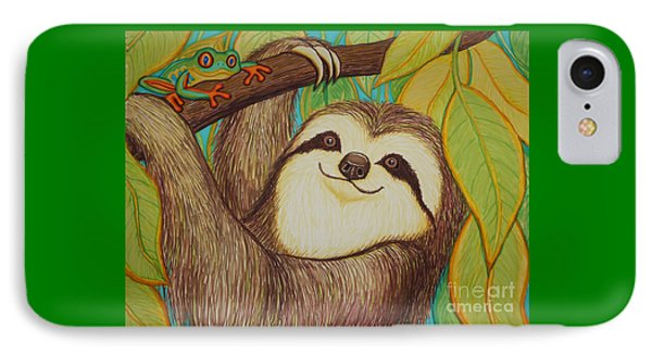Sloth And Frog Phone Case by Nick Gustafson