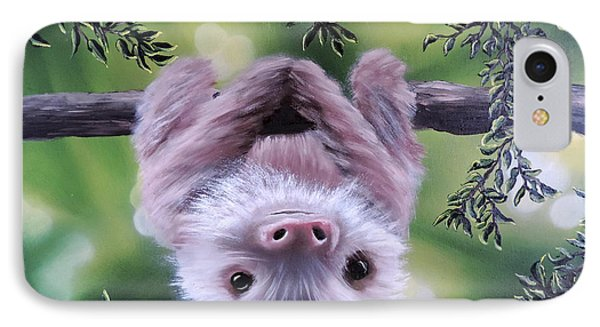 Sloth'n 'around IPhone Case by Dianna Lewis