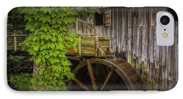 Sluice And Waterwheel At The Old John Cable Grist Mill IPhone Case by Randall Nyhof