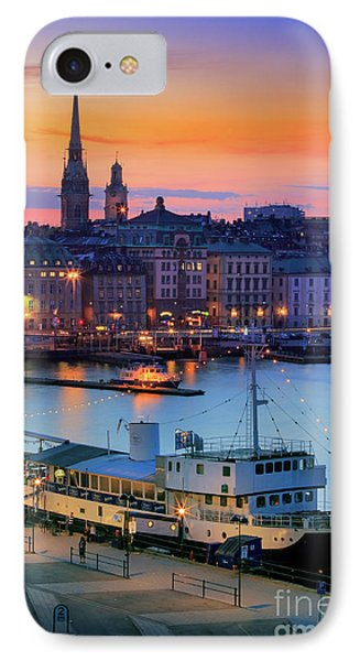 Slussen By Night IPhone Case by Inge Johnsson