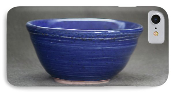 Small Blue Ceramic Bowl IPhone Case by Suzanne Gaff