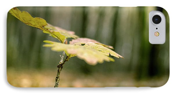 Small Branch With Yellow Leafs Close-up IPhone Case by Vlad Baciu