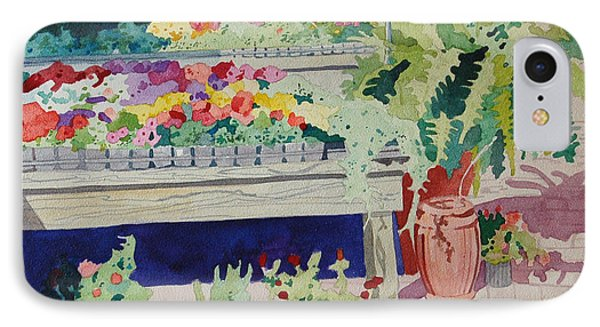 Small Garden Scene Phone Case by Terry Holliday