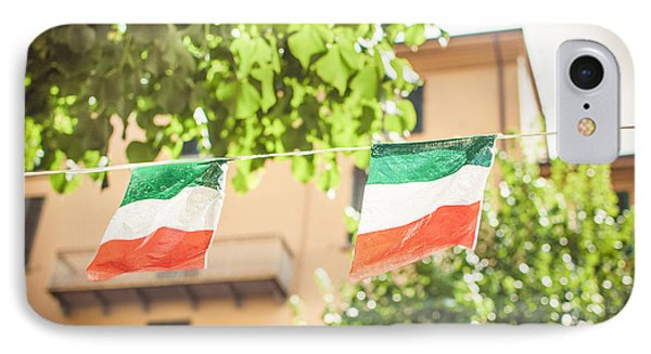 small Italian flags hanging by a thread IPhone Case