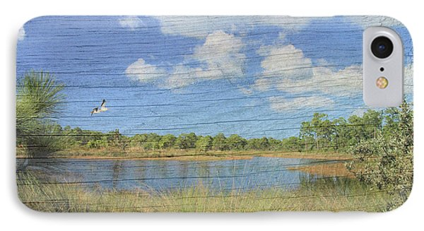 Small Pond With Weathered Wood Phone Case by Rosalie Scanlon