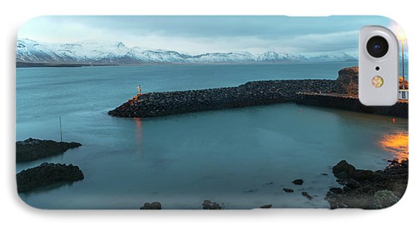 IPhone Case featuring the photograph Small Port Near Snaefellsjokull Mountain, Iceland by Dubi Roman
