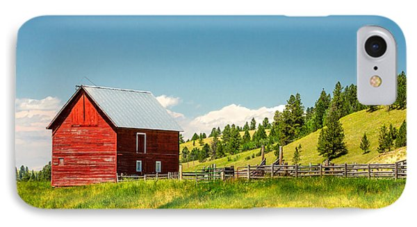 Small Red Shed IPhone Case by Todd Klassy