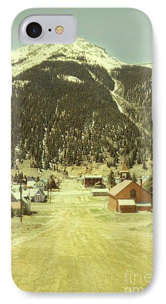 Small Rocky Mountain Town IPhone Case by Jill Battaglia