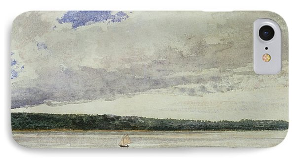 Small Sloop On Saco Bay Phone Case by Winslow Homer