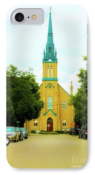 Small Town Church IPhone Case by Anthony Djordjevic