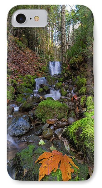 Small Waterfall At Lower Lewis River Falls Phone Case by David Gn