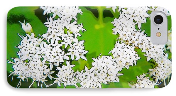 Small White Flowers IPhone Case by Craig Walters