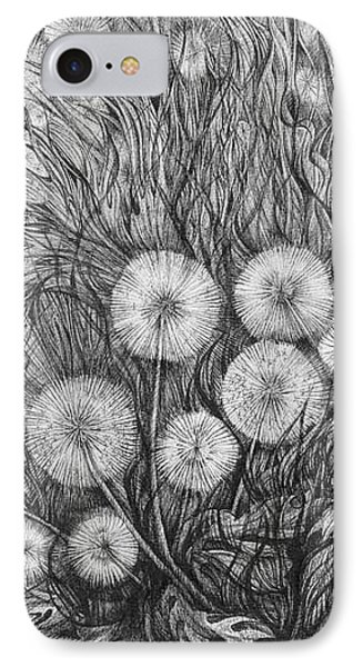 IPhone Case featuring the drawing Small World by Anna  Duyunova