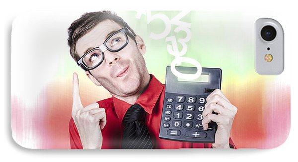 Smart Accountant Showing Income Tax Return Growth IPhone Case by Jorgo Photography - Wall Art Gallery
